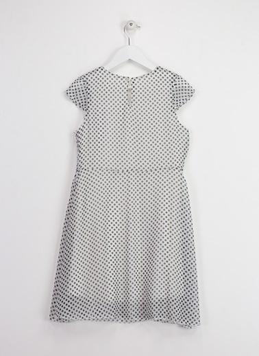 Morhipo Kids Puaniteyli Şifon Elbise Beyaz